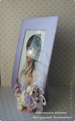 Сделала рамку для фотографии в сиреневых тонах, на заказ. Для примера вставила свое фото. фото 2