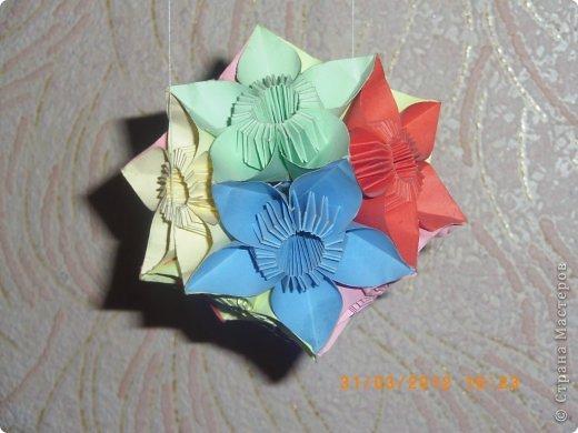 """Кусудама """"Бабочки"""" Томоко Фусе.Одна из любимых работ. фото 2"""