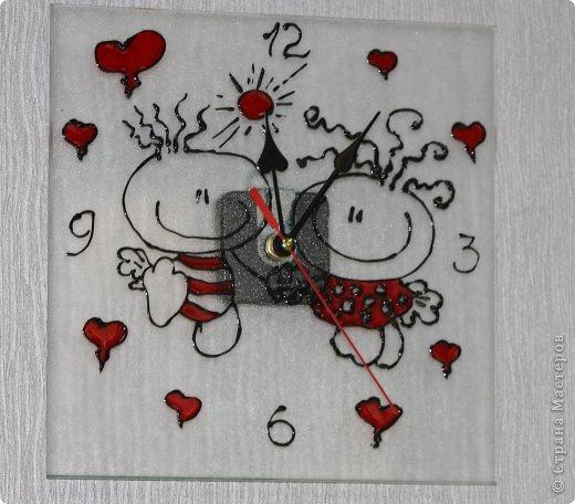 Часики к рождению Малышки.Витраж. фото 23