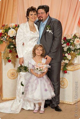 Свадебный букет зонт с гипсофилой фото 4