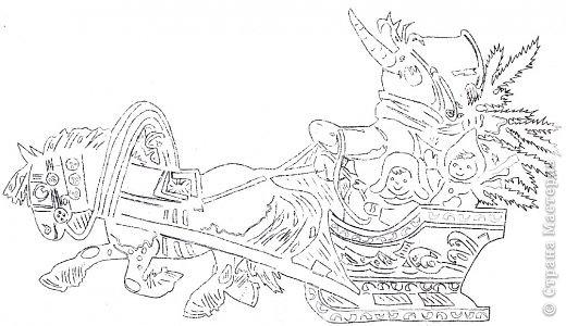 Картина панно рисунок Новый год Вырезание Эх прокачу Бумага фото 11.