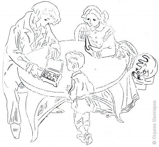 Картина панно рисунок День семьи Вырезание Семья Бумага фото 7