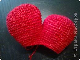 Мастер-класс Валентинов день Вязание крючком к дню Святого Валентина Нитки фото 7