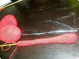 Мастер-класс Валентинов день Вязание крючком к дню Святого Валентина Нитки фото 9