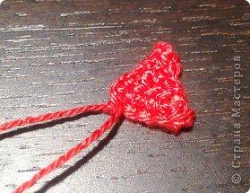 Мастер-класс Валентинов день Вязание крючком к дню Святого Валентина Нитки фото 13