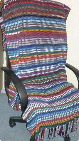 крючком накидка для кресла