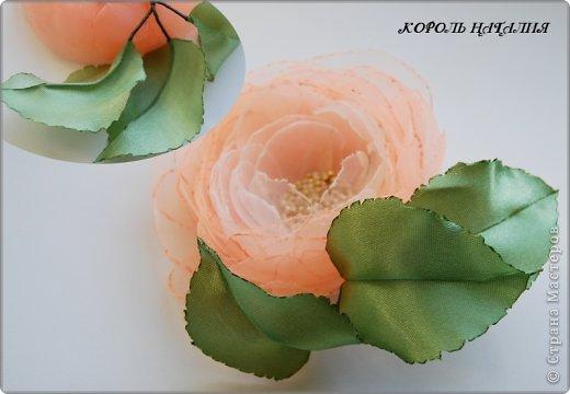 Цветок органзы своими руками