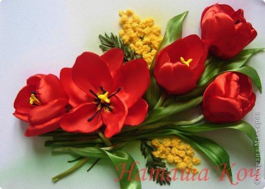 Мои весенние тюльпаны. Вышивка