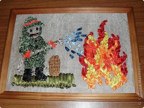 """Панно """"Пожарник"""""""