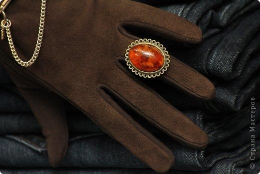 "Кольцо ""Vintage ambre"" (Винтажный янтарь)"