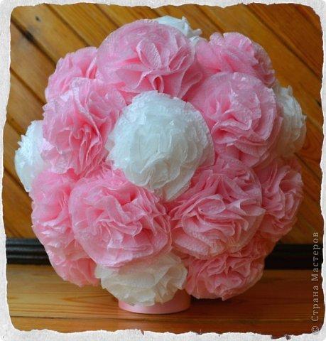 Цветочный шар из салфеток {amp}quot;Нежность{amp}quot;