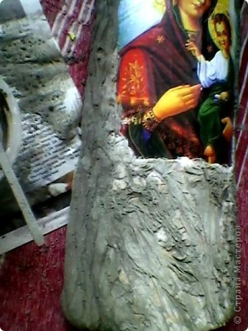Увидела однажды такую икону в одном сувенирном магазинчике, из тех, что рядом с монастырями. Стоила очень дорого. Подумала, что сумашедство потратить столько денег  на то, что можно сделать своими руками. фото 3