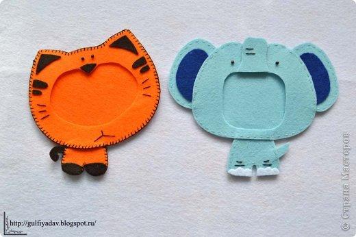 Здравствуйте, дорогие рукодельницы!  Сегодня я покажу рамочки для детей. Тигр и Слон. фото 1