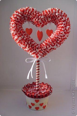 Как сделать дерево сердце из бумаги