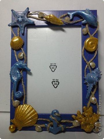 Фоторамка Фиолет №2.(Фото 050) обтянута тканью,украшена цветами из ракушки,радужным бисером,сваровски,для фото 10х15 см. фото 28