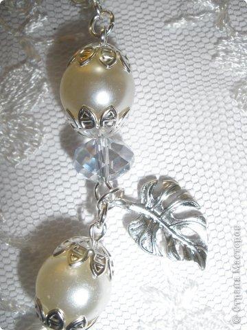 Комплект Бирюзовая сказка. выполнен из полимерной глины, сваровски, бирюзы, ажурных бусин и чашечек.   фото 44