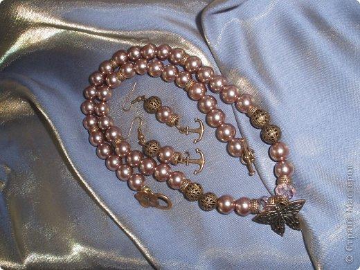Комплект Бирюзовая сказка. выполнен из полимерной глины, сваровски, бирюзы, ажурных бусин и чашечек.   фото 31