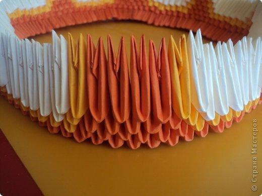Мастер-класс Поделка изделие Оригами китайское модульное МК Апельсиновые фантазии Бумага фото 11