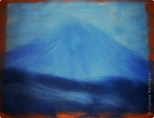Картина панно рисунок Мастер-класс 8 марта Валяние фильцевание Картина из шерсти Весенний пейзаж Шерсть фото 11