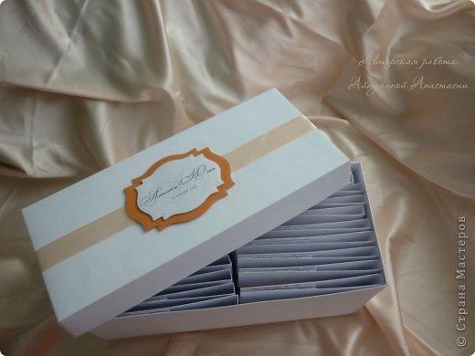 Свадебные приглашения, но не обычные, а для видео-приглашения. Это коробочки для СД дисков, на которых молодожены запишут свое приглашение. Просили в ярких тонах) фото 3