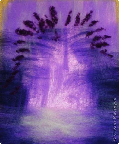 Еще одна работа в технике так называемой шерстяной живописи.   фото 2