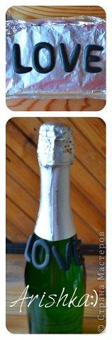 Это вторая такая же бутылочка (по заказу на годовщину свадьбы), первая тут https://stranamasterov.ru/node/548750 фото 13