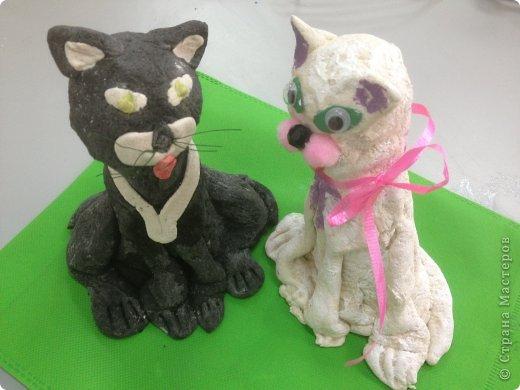 Кот и кошечка из соленого теста. фото 1