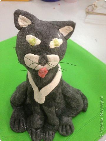 Кот и кошечка из соленого теста. фото 3