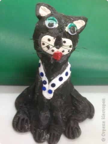 Кот и кошечка из соленого теста. фото 5