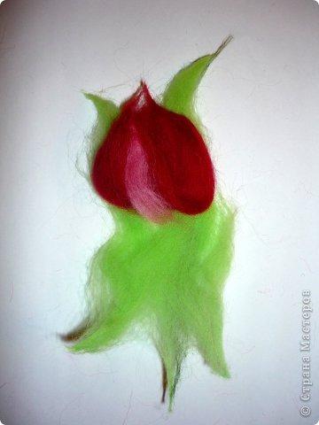 Картина панно рисунок Мастер-класс Валяние фильцевание Рисование и живопись МК Роза из шерсти Шерсть фото 29