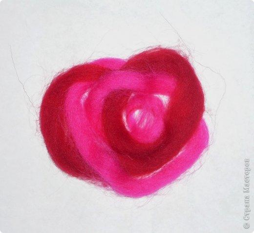 Картина панно рисунок Мастер-класс Валяние фильцевание Рисование и живопись МК Роза из шерсти Шерсть фото 37