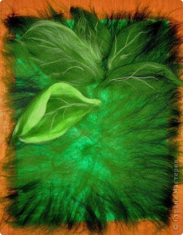 Картина панно рисунок Мастер-класс Валяние фильцевание Рисование и живопись МК Роза из шерсти Шерсть фото 7