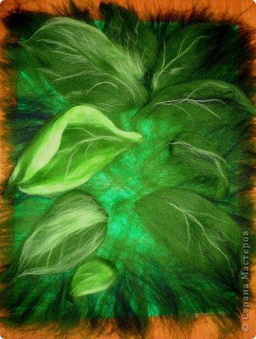 Картина панно рисунок Мастер-класс Валяние фильцевание Рисование и живопись МК Роза из шерсти Шерсть фото 8