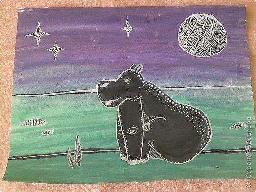 Здравствуйте, друзья!!! Меня зовут Полина, на данный момент мне 13 лет. Я очень давно не выкладывала свои работы(с 2011 года), но регулярно посещаю этот сайт. В этой записи я  покажу несколько своих работ, сделанных в 2013 году. Приятного просмотра! Итак, начнем! Этот рисунок я нарисовала у мамы на работе цветными карандашами. фото 7