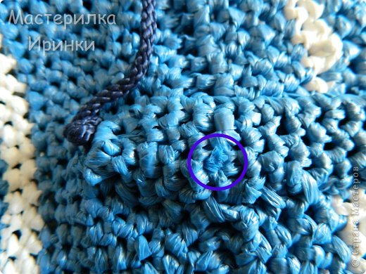 Гардероб Мастер-класс Вязание крючком Сумка-повторялка из мусорных пакетов Полиэтилен фото 16