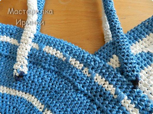 Гардероб Мастер-класс Вязание крючком Сумка-повторялка из мусорных пакетов Полиэтилен фото 18