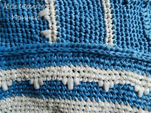 Гардероб Мастер-класс Вязание крючком Сумка-повторялка из мусорных пакетов Полиэтилен фото 10