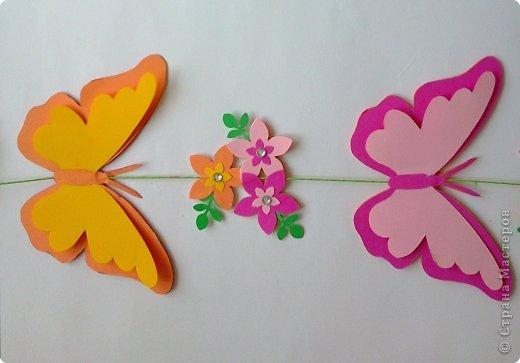 Бабочки своими руками из бумаги для цветов