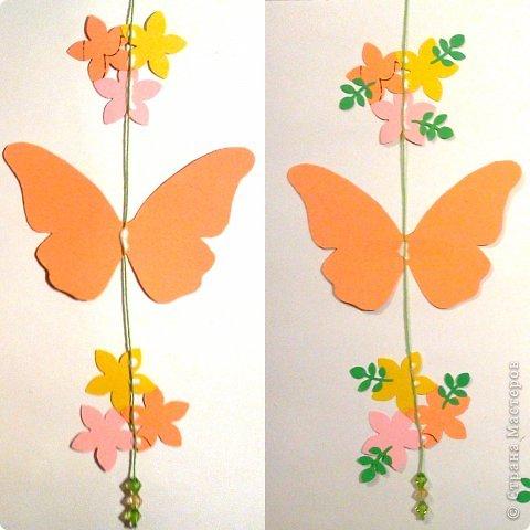 Сделать мобиль с бабочками 4