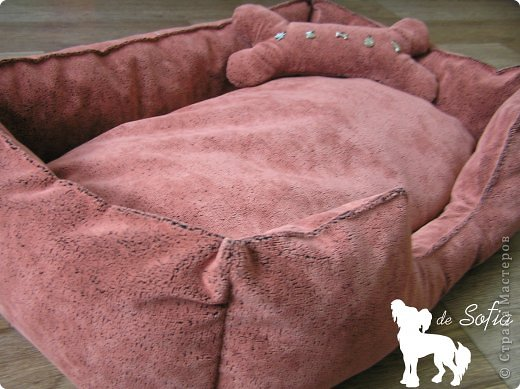 Представляю Вам мастер - класс по шитью лежака для собаки. Это очень просто и интересно. фото 42