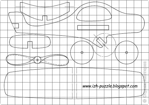 Игрушка-самолёт Дерево