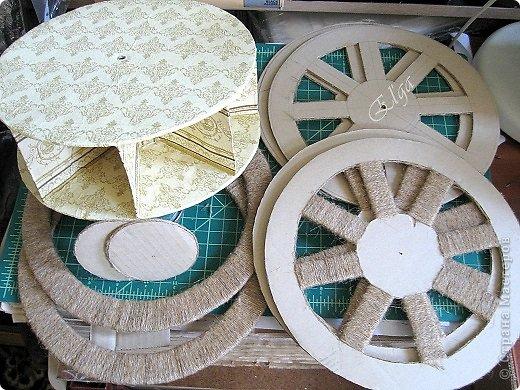 Мастер-класс Моделирование конструирование Чайное колесо Картон Клей Салфетки фото 13