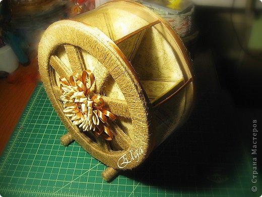 Мастер-класс Моделирование конструирование Чайное колесо Картон Клей Салфетки фото 16
