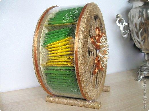 Мастер-класс Моделирование конструирование Чайное колесо Картон Клей Салфетки фото 3
