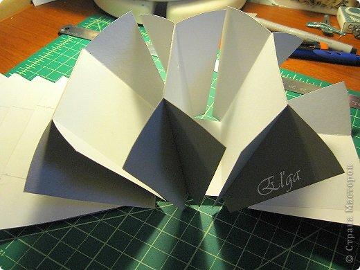 Мастер-класс Моделирование конструирование Чайное колесо Картон Клей Салфетки фото 7