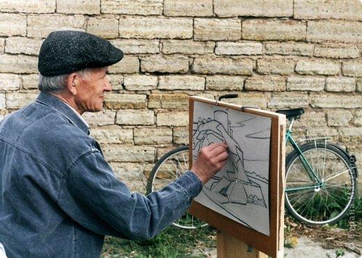 Добрый день или вечер мастера и мастерицы. Выкладываю очередные рисунки и картины В.Д. Попова. На этот раз - г. Кронштадт . Эта работа висит сейчас в музее г. Кронштадта. фото 16