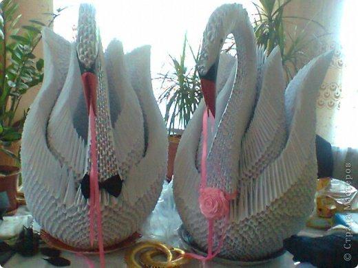 Оригами как сделать большого лебедя