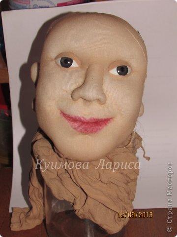 Как сделать лицо у куклы из колготок