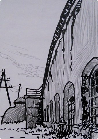 Добрый день или вечер мастера и мастерицы. Выкладываю очередные рисунки и картины В.Д. Попова. На этот раз - г. Кронштадт . Эта работа висит сейчас в музее г. Кронштадта. фото 13