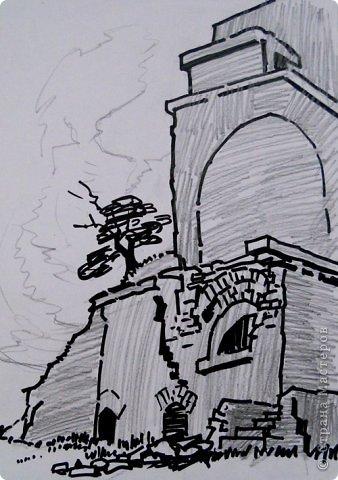 Добрый день или вечер мастера и мастерицы. Выкладываю очередные рисунки и картины В.Д. Попова. На этот раз - г. Кронштадт . Эта работа висит сейчас в музее г. Кронштадта. фото 14